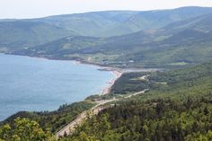 This is Pleasant Bay taken from a look-off on MacKenzie Mountain on the Cabot Trail in Cape Breton. This is in the Cape Breton Highlands National Park in Northern Cape Breton. Cabot Trail, Cape Breton, Absolutely Gorgeous, Beautiful, Fishing Villages, Sandy Beaches, Nova Scotia, Highlands, Hiking Trails