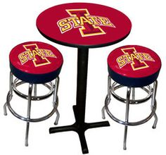 lowa state table | Iowa State Cyclones Varsity Pub Table & Bar Stool Set
