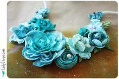 DIY Flower Bib Necklace