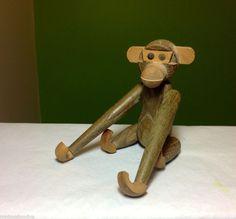 Bojesen Zoo Line Era Japan Teak Wood Hanging Monkey Mid Century Modernist