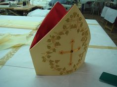 Stadelmaier Papal mitre in production (2)