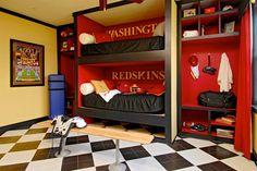 Football Rooms   Football Decorating Ideas   Sports Decor-closet inspiration, take off door and make it look like a locker