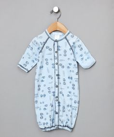 Blue Baseball Convertible Gown - Infant