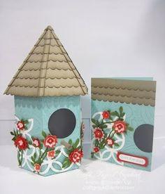 Stampin' Up!  Bird House w/ Lattice  Julie Beltramo