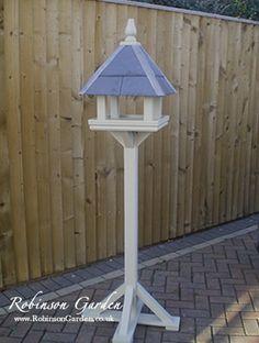 a beautiful and bespoke wooden bird table bird feeder. Black Bedroom Furniture Sets. Home Design Ideas