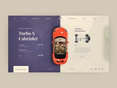 Porsche Turbo S Cabriolet Animation pagination web animation after effect logo ux ui figma adobe design clear design cabriolet porsche car Design Web, Site Design, Design Trends, Graphic Design, Web Layout, Layout Design, Porsche Turbo S, Cabriolet, Ui Web