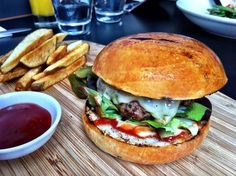 Burger and chips at Speakeasy