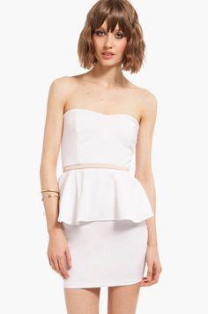 Sweetheart Peplum Dress $25 at www.tobi.com #iwant