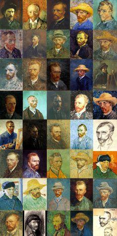 Self Portraits (40) by Vincent van Gogh
