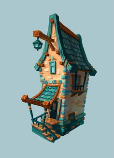 Pin by elle on buildings in 2019 environment concept art, ho Environment Concept, Environment Design, Prop Design, Game Design, Design Ideas, 3d Modellierung, House Games, 3d Modelle, Building Concept