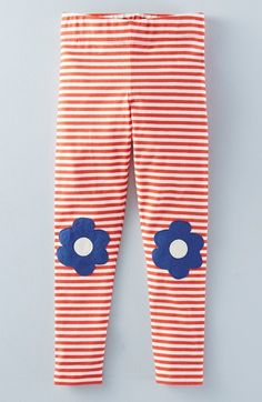 Mini Boden 'Applique' Stripe Leggings (Toddler Girls, Little Girls & Big Girls)