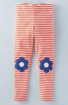 Mini Boden 'Applique' Stripe Leggings (Toddler Girls, Little Girls & Big Girls)