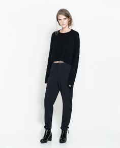 ZARA - TRF - LOOSE FIT TROUSERS WITH RIBBON AND POCKET