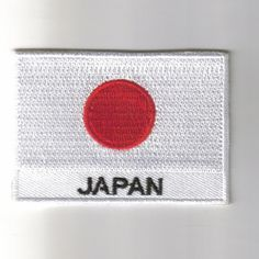 Japan flag embroidered patches