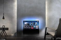Philips DesignLine TV Sets Blend Seamlessly Into Living Rooms///Madness I say!
