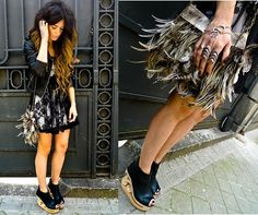 "Asos Bracelet, Hippie Market ""Las Dalias"" Bag, Jeffrey Campbell Shoes, Primark Lace Dress - SNAKE - ANGELA ROZAS SAIZ"