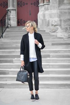 The Rue Collective Black Brogues Outfit, Brogues Womens Outfit, Fall Winter Outfits, Winter Fashion, Mode Simple, Gamine Style, Work Fashion, Minimalist Fashion, My Style