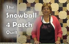 The Snowball 4 Patch Quilt