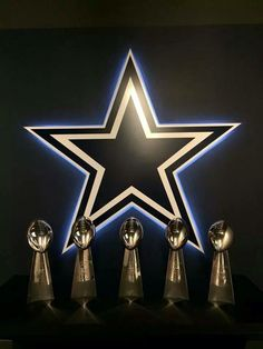 Dallas Cowboys 5 Super Bowl Trophies and the Star! Dallas Cowboys Memes, Dallas Cowboys Decor, Dallas Cowboys Wallpaper, Dallas Cowboys Players, Dallas Cowboys Pictures, Dallas Cowboys Football, Cowboys 4, Dallas Sports, American Football