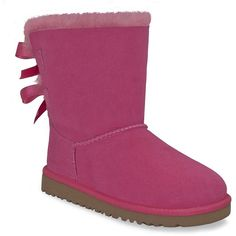 """UGG® AUSTRALIA Toddlers Bailey Bow"""" Sheepskin Boots"""" ($120) ❤ liked on Polyvore"""