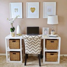 It is likely to otherwise create your office in the analysis room or a different place. Your home office must incorporate a simple desk with drawers. If you are planning a home office, you might require a successful home PC… Continue Reading → Home Office Space, Home Office Design, Home Office Decor, Office Designs, Home Decor, Office Ideas, Small Office, Desk Space, Workspace Design