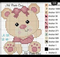Cross Stitching, Cross Stitch Embroidery, Machine Embroidery, Baby Cross Stitch Patterns, Cross Stitch Baby, Valentine Gift Baskets, Valentine Gifts, Crochet Mat, Graph Paper Art