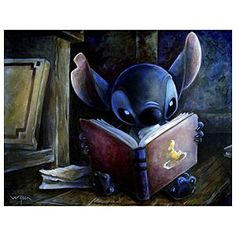 """I ♥ Stitch! *Ohana* """"There is more treasure in books than in all the pirate's loot on Treasure Island."""" - Walt Disney"""