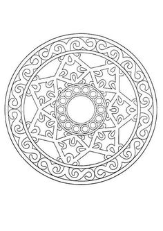 Great page of Free printable Mandala coloring pages!
