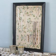 wooden jewellery frame by lilac coast | notonthehighstreet.com