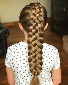 5 Strand Dutch Braid by Erin Balogh Unique Hairstyles, Braided Hairstyles, Four Strand Braids, Braids For Kids, Mermaid Hair, Textured Hair, Flowers In Hair, Dutch, Hair Accessories