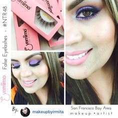 Fellow SF Bay Area #makeupartist @makeupbyirmita showing her #eyemakeup with our falsie #NTR48  Link to the product: http://www.shopeyemimo.com/ntr48-eyemimo-brand-false-eyelashes
