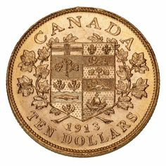 $10 gold coin by the Royal Canadian Mint (1913)