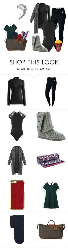 """La Push"" by ohlala423 ❤ liked on Polyvore featuring Under Armour, NIKE, Seafolly, UGG Australia, Tory Burch, Comptoir Des Cotonniers and Longchamp"