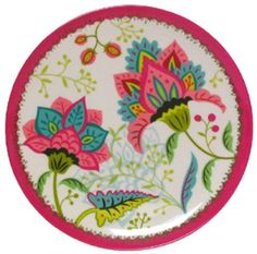 """Melamine Round Thistle Plate 9.25""""D Set/4 by Traders and Company, http://www.amazon.com/dp/B00AWE2TP8/ref=cm_sw_r_pi_dp_D69Urb17QT4Z6"""
