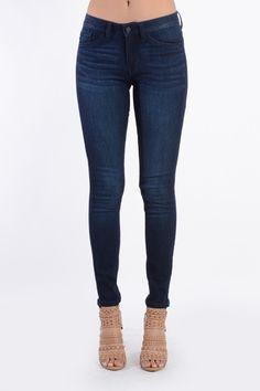 Stassi Dark Wash Skinny Jeans - love the wash of these