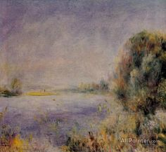 Pierre Auguste Renoir Banks Of The River oil painting reproductions for sale