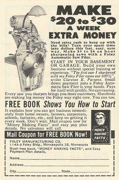 "1962 ad: Make ""Big Money"" the Foley Way"