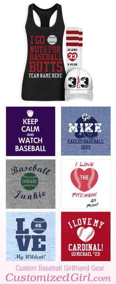 Baseball Girlfriend designs from CustomizedGirl