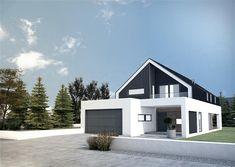 Modern Barn House, Modern Mansion, Model House Plan, Dream House Plans, Exterior House Colors, Exterior Design, Building Design, Building A House, Bungalow Renovation