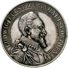 Ludwig 1603-1650. silver medal 1924 on d. 250 Jf. Of the Ludwigsgymnasiums in Köthen. Brb. Prince Ludwig r. / secondary school. 33 mm, 15.9 g. extremley fine, nice toned Dealer Teutoburger Münzauktion & Handel GmbH Auction Minimum Bid: 50.00 EUR