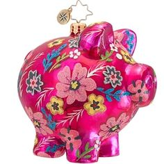Radko OINKY Pink Pig ornament NEW 2013 Christmas piggy www.radkoforsale.com Sold out