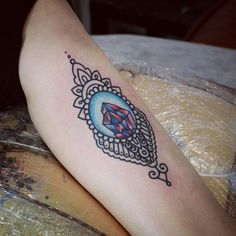 Symbiosis - ornamental with traditional tattoo.