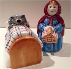 Red Riding Hood & The Big Bad Wolf Salt & Pepper Shakers