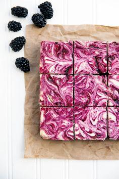 sweetoothgirl:  Blackberry Cheesecake Brownies