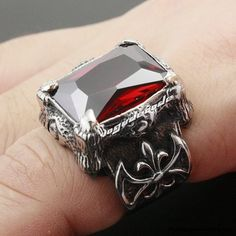 Huge Red Ruby Dragon Claw mens ring jewellery - My Engagement Ring