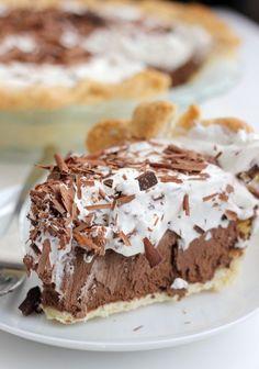 Chocolate French Silk Pie- Baker Bettie