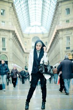 Super cool. An edgy hijabi look - who knew?!