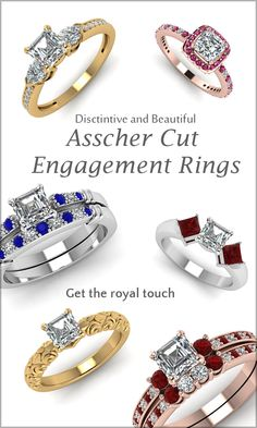 Distinct and beautiful Asscher cut Engagement Rings, get the royal touch