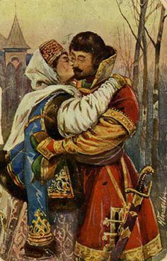 """БОГАТОВ Н. А. Серия """"Пасхальные поцелуи""""."""