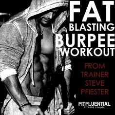blast fat with burpees & trainer Steve Pfiester Stubborn Belly Fat, Belly Fat Workout, High Intensity Interval Training, Fun Workouts, Core Workouts, Burn Calories, Fitness Motivation, Fitness Plan, Gym